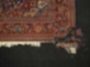 restauro buco tappeto