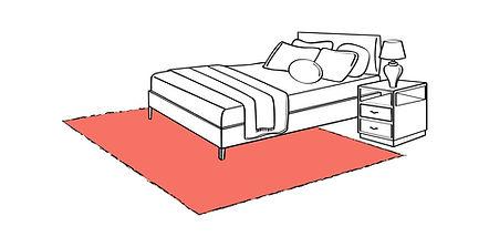 letto moderno, letti moderni, camera da letto moderna, tappeto moderno, tappeti moderni, geometria, fibra, lana, tappeto vintage