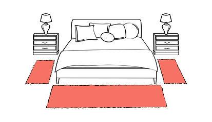 Letto genova, tappeto camera da letto, tappeto lana, tappeto moderno genova, scendiletto