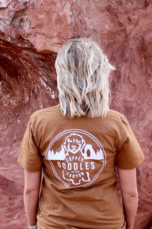Doodle Mom T-Shirt-Camel