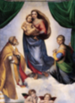 Dipinto Madonna Sistina di Raffaello