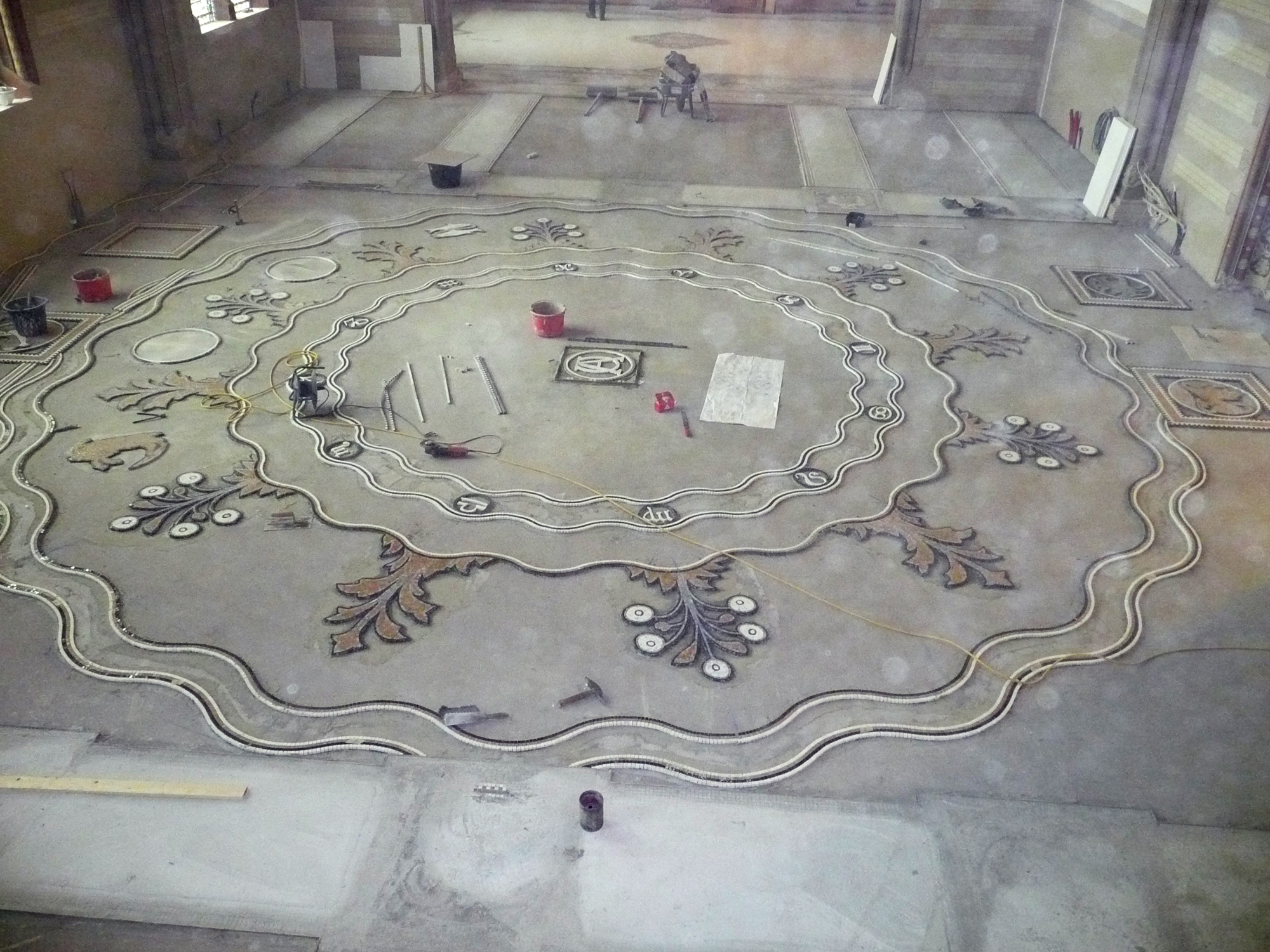 Terrazzo Veneziano during renovation