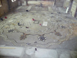Restauro pavimentazione in mosaico