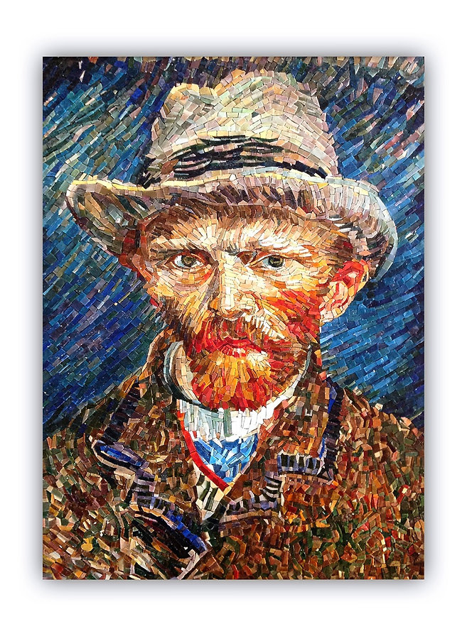 Masaic Artwork Reproduction Van Gogh Self-portrait