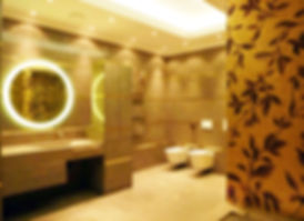 Bathroom with 24 carat gold venetian mosaic