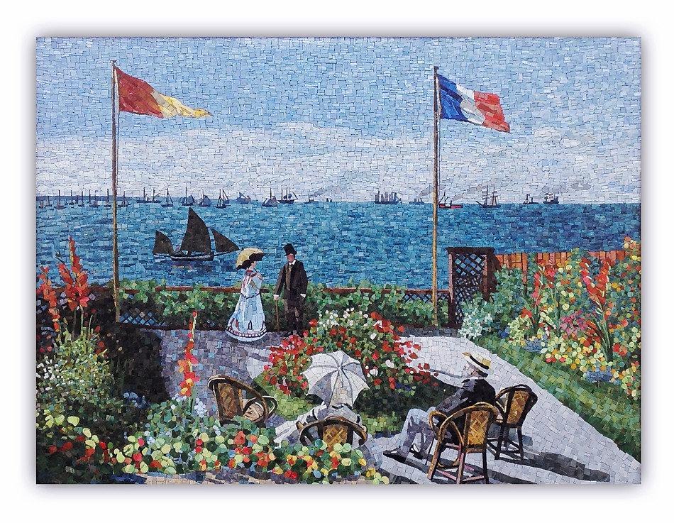 Riproduzione Artistica in mosaico La Terrazza Sainte-Adresse di Monet