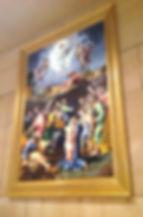 Riproduzione in mosaico della Trasfigurazione di Michelangelo