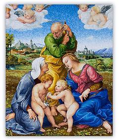 Sacra Famiglia Riproduzione in Mosaico Cangiani