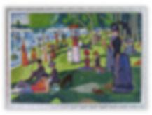 Riproduzione artistica in micro mosaico Grande Jatte di Seurat