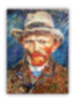 Van Gogh Self Portrait Mosaic Reproduction