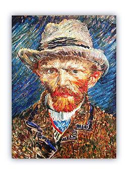Van Gogh Autoritratto Riproduzione Artistica in Mosaico
