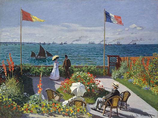 Dipinto La Terrazza Sainte-Adresse di Monet