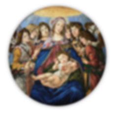 Riproduzione Artistica in Mosaico Madonna della Melagrana Botticelli