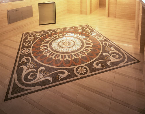 Decorative Mosaic and Venetian Terrace Floor