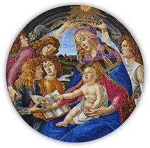 Madonna Magnificat Riproduzione in Mosaico