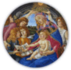 Madonna Magnificat Botticelli Mosaic Reproduction