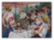 La colazione dei Canottieri Riproduzione Artistica in Mosaico