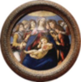 Dipinto Madonna della Melagrana Botticelli