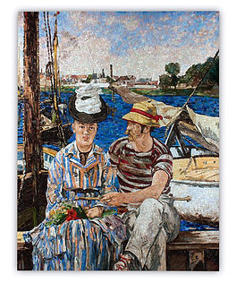 Manet Riproduzione Artistica in Mosaico