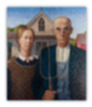 Mosaic Artwork American Gothic by Grant Wood