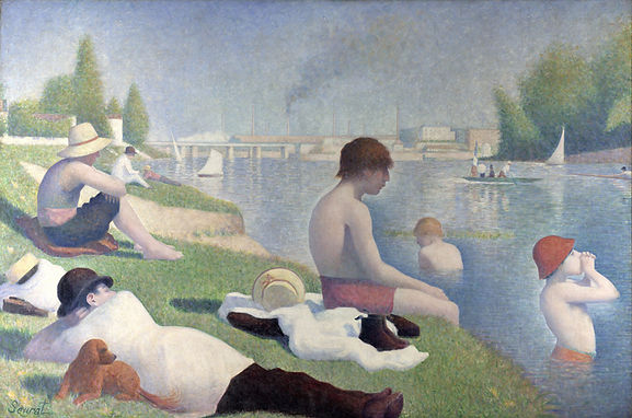 Bathers at Asnieres original painting Seurat