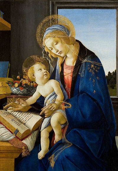 Madonna of the Book original painting by Botticelli