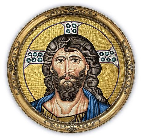 Riproduzione artistica in mosaico Cristo Pantocratore