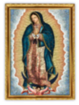 Mosaic reproduction Our Lady of Guadalupe