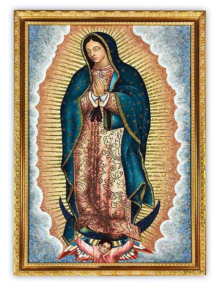 Riproduzione artistica in mosaico Madonna di Guadalupe