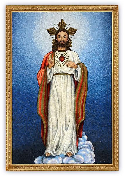 Riproduzione in mosaico Sacro cuore di Gesù