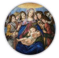 Moadonna of the Pomegranate Botticelli Mosaic Reproduction