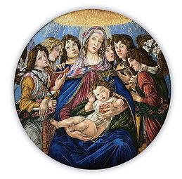Madonna del Melograno Riproduzione Artistica in Mosaico