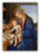 Madonna del Libro Riproduzione Artistica in Mosaico