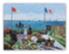 Garden at Sainte-Adresse Monet Mosaic Reproduction