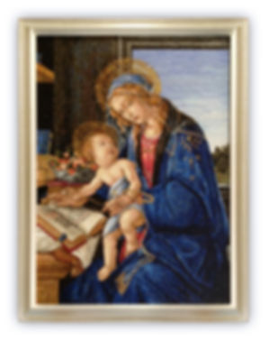 Mosaic Reproduction Madonna of the Book by Botticelli