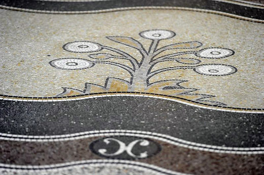 Floor Detail of Mosaic Decoration