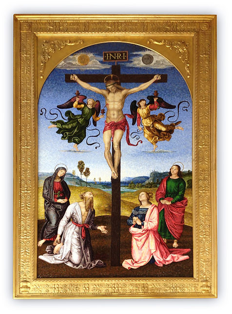 Mosaic Reproduction Mond Crucifixion Raphael