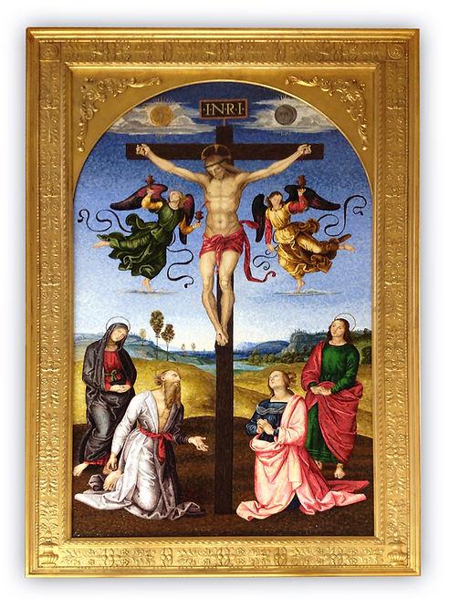 Riproduzione in mosaico Crocefissione Gavari di Raffaello