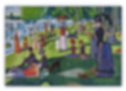 Grande Jatte Seurat Mosaic Reproduction