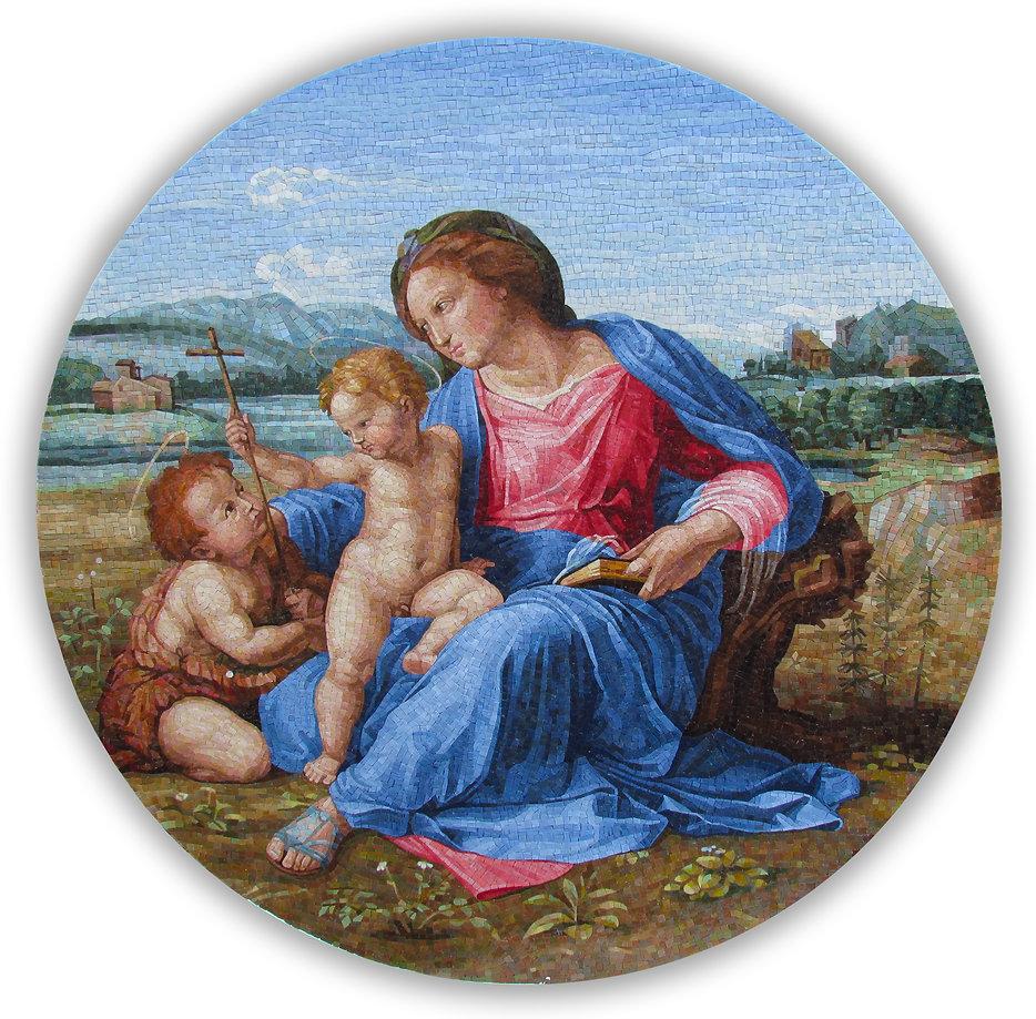 Alba Madonna Raphael Mosaic Reproduction
