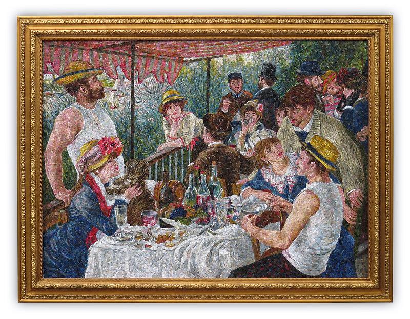 Riproduzione in mosaico Colazione dei Canottieri Renoir