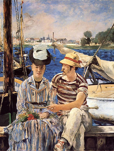 Original Painting Argenteuil by Manet