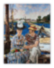 Artistic Mosaic Reproduction Argenteuil Manet