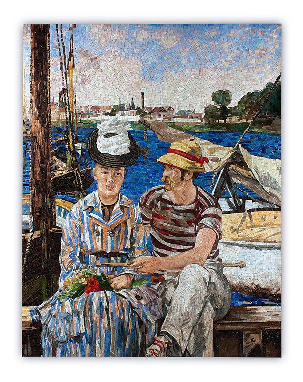 Artistic Mosaic Reproduction Argenteuil Manet