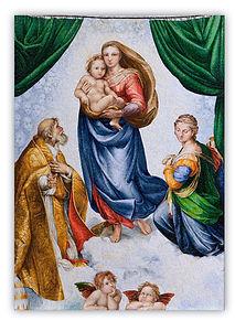 Madonna Sistina Riproduzione in Mosaico