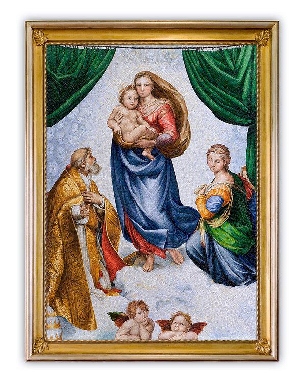 Mosaic Reproduction Sistine Madonna by Raffaello