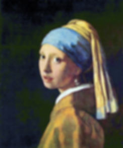 Girl with a Pearl Earring original painting by Vermeer