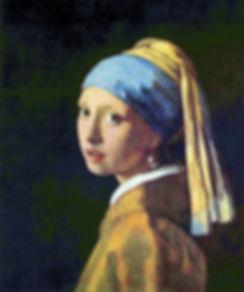 Dipinto Ragazza con l'oreccino di Perla di Jan Vermeer