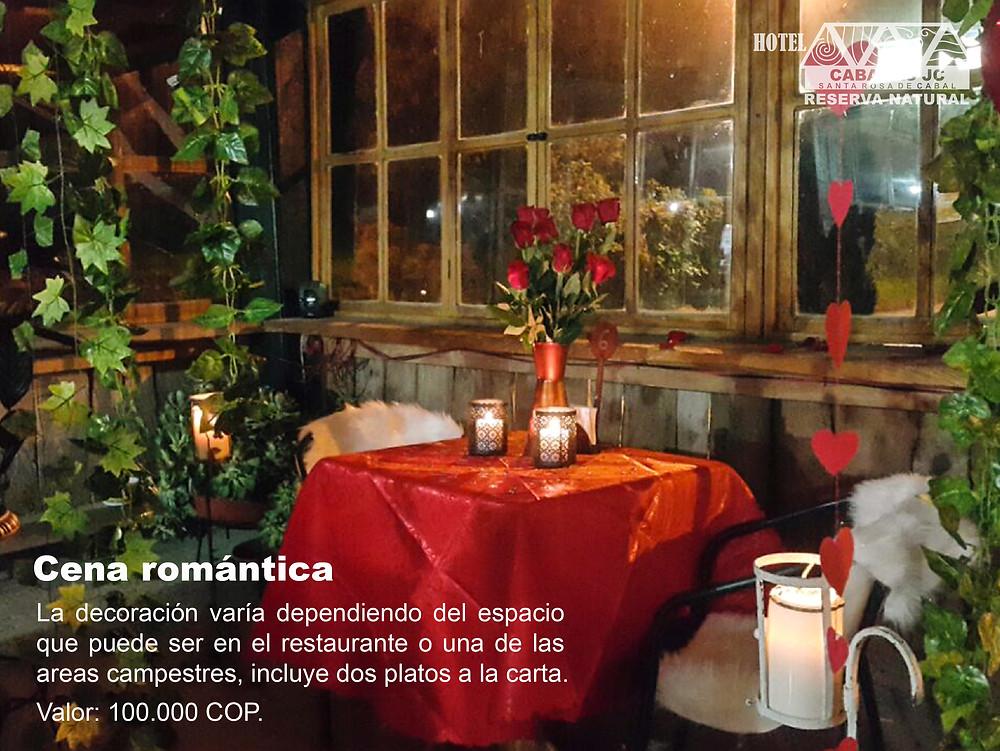 Cena romántica - Plan romántico en Santa Rosa de Cabal