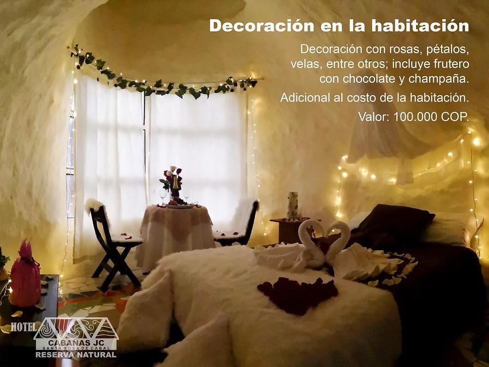 Decoración de habitación - Noche romántica en Santa Rosa de Cabal